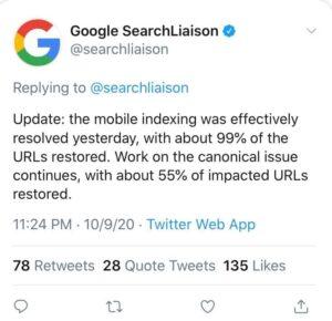 Google search enging อัพเดท